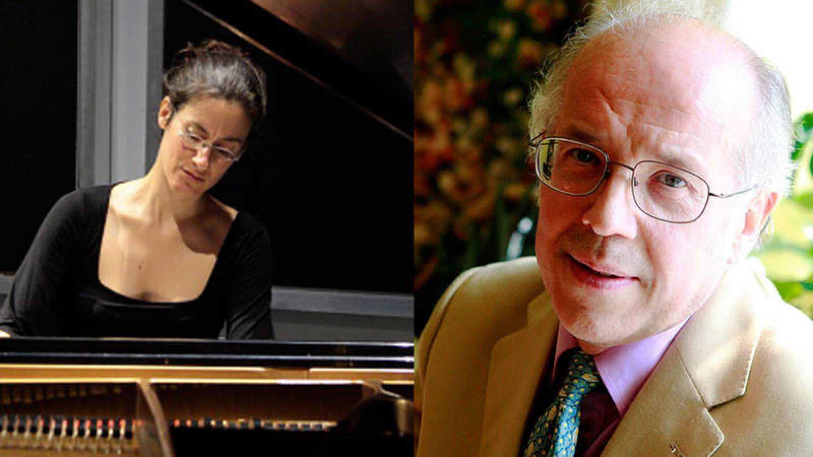 La pianista Marta Espinós y el director José Luis Temes