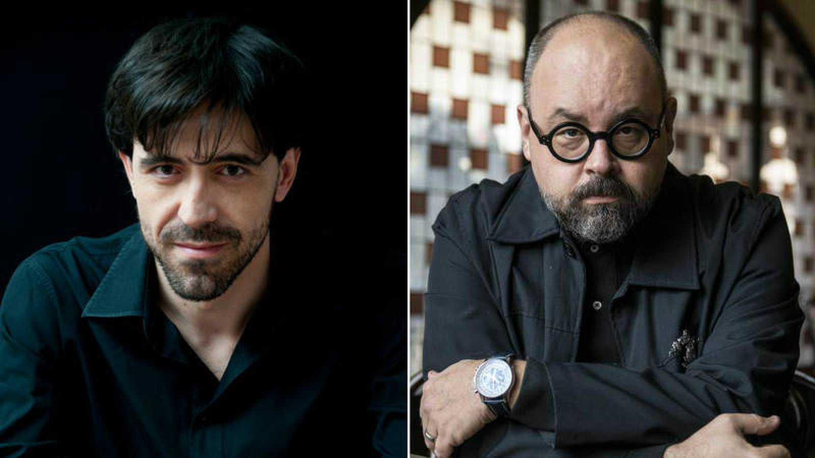 Israel Elejalde y Carlos Ruiz Zafón
