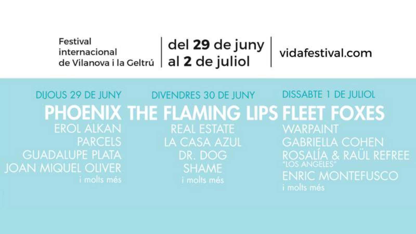 Vida Festival anuncia su cartel completo