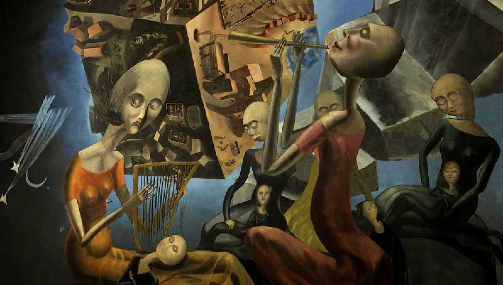 'Un mundo' es la magna de la pintora surreslista, un óleo pintado en 1929 inspirado en versos de Juan Ramón Jiménez