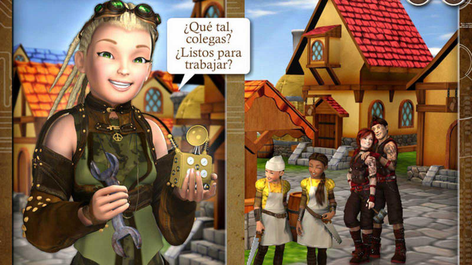 Imagen del comienzo del videojuego 'Cibereduca 2.0'.