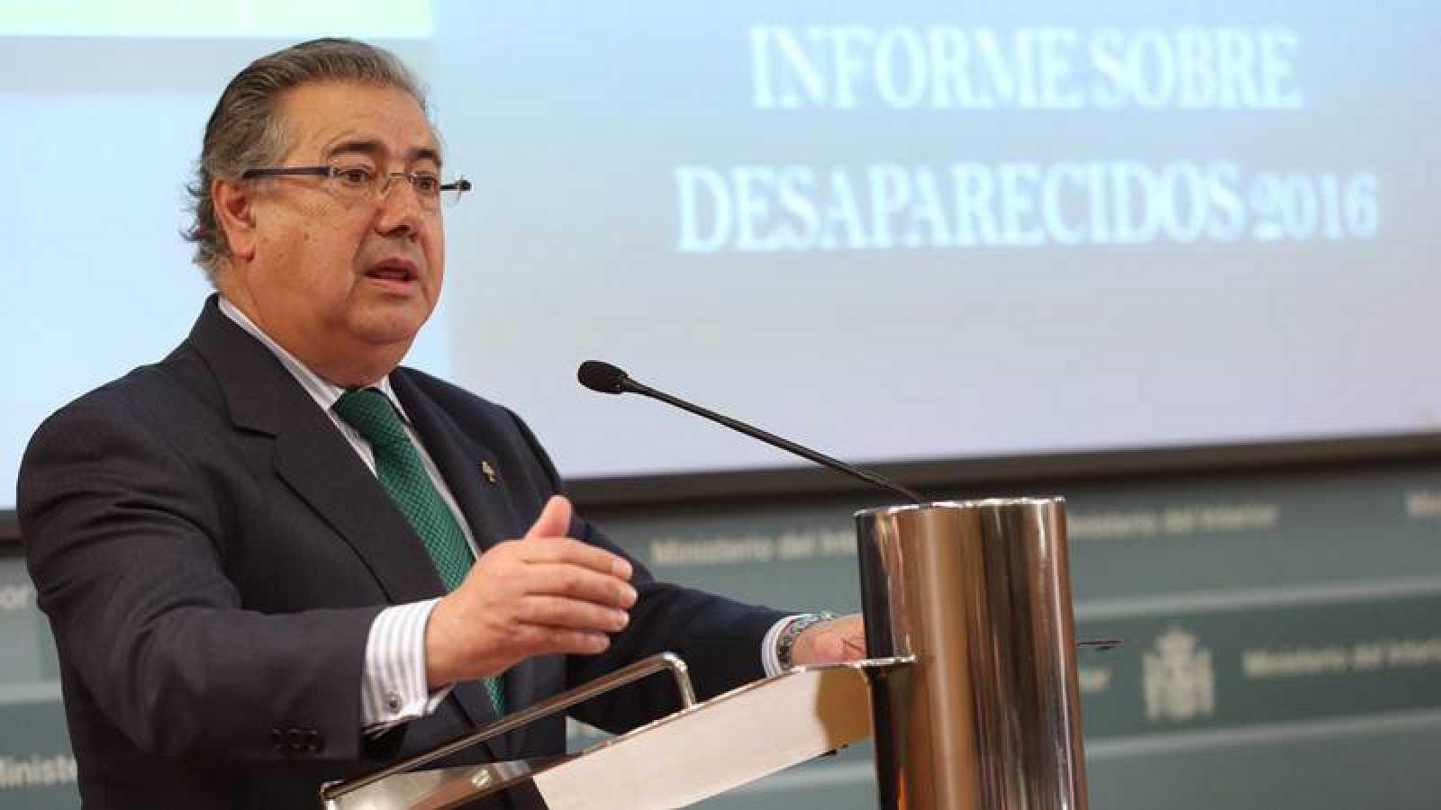 Zoido presenta el informe sobre la situación de las personas desaparecidas en España