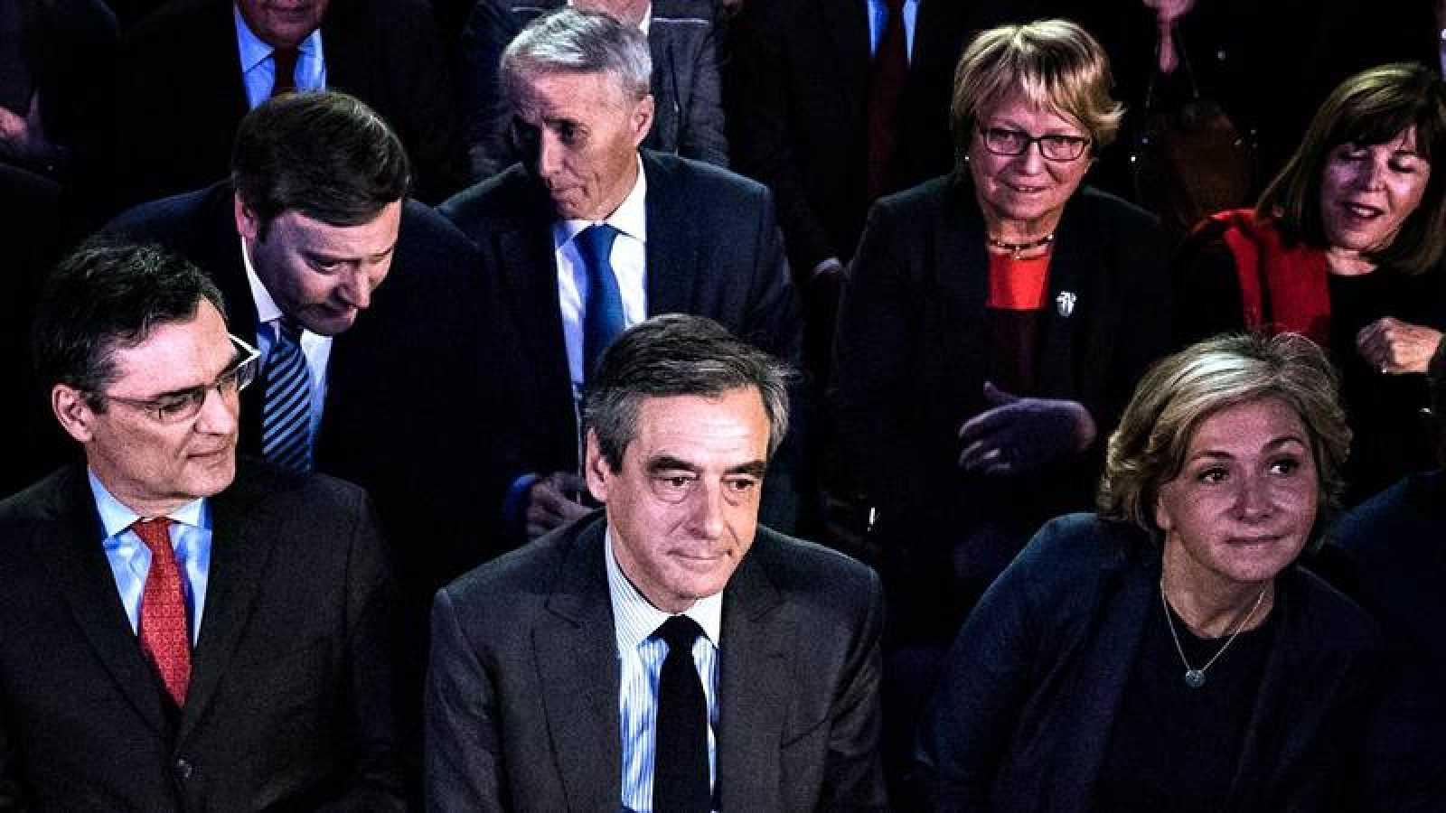 El candidato conservador al Elíseo, François Fillon, en un acto de campaña