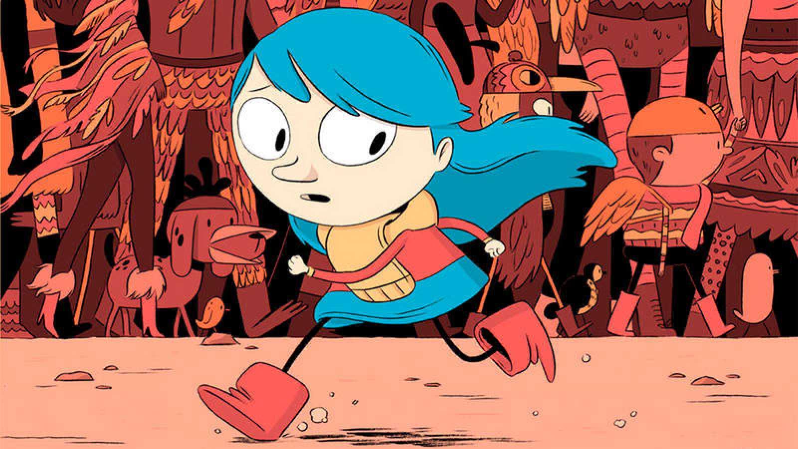 Fragmento de una portada de 'Hilda'