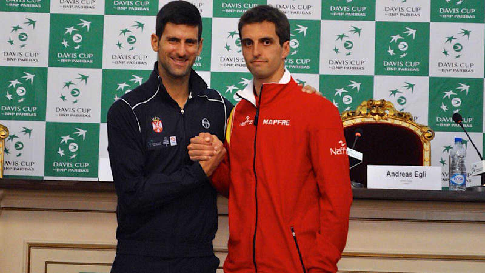 Novak Djokovic y Albert Ramos, rivales en el Serbia - España