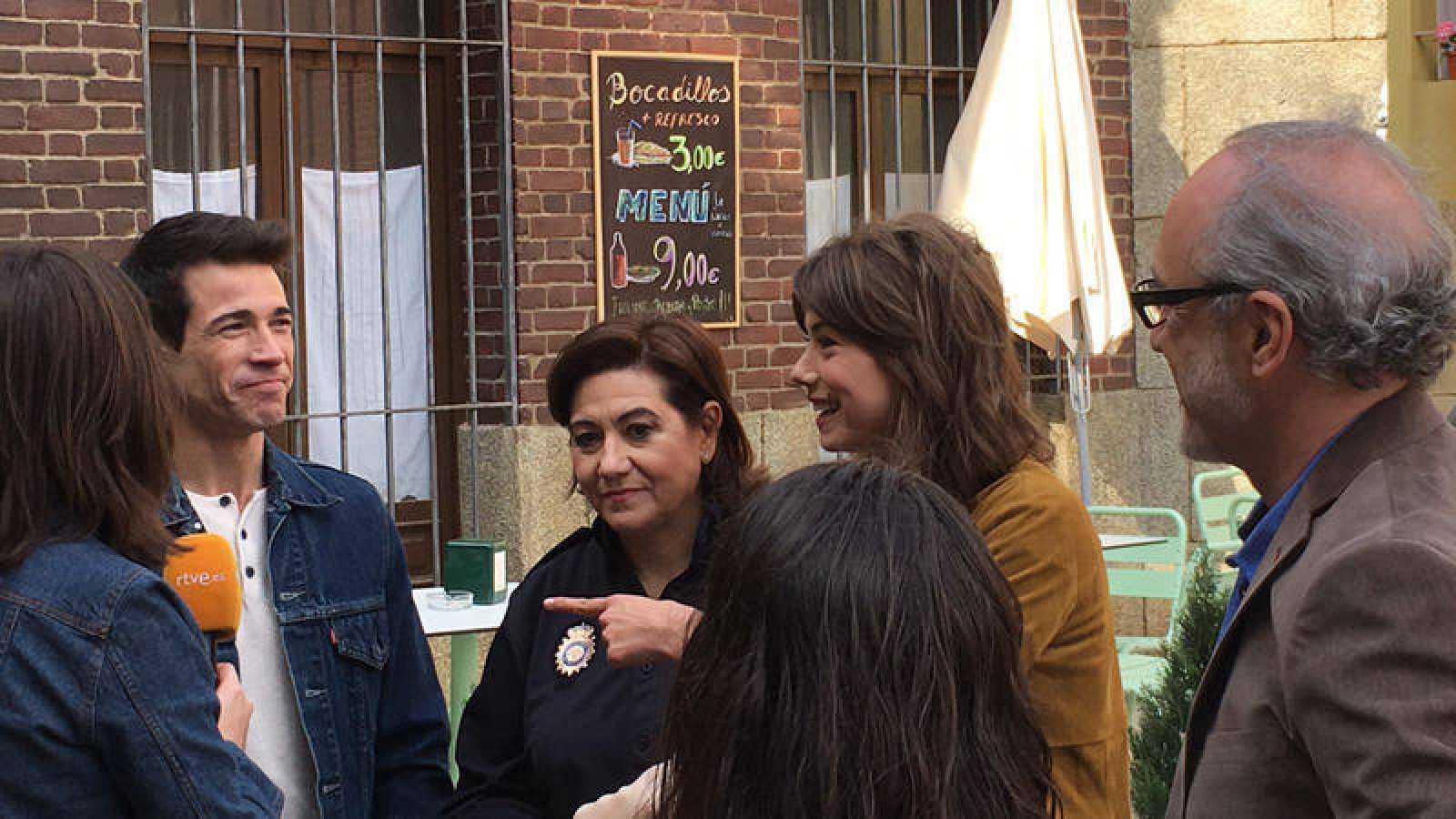 Luisa Martín, Juanjo Ballesta, Andrea del Río y Roberto Álvarez durante el Facebook Live