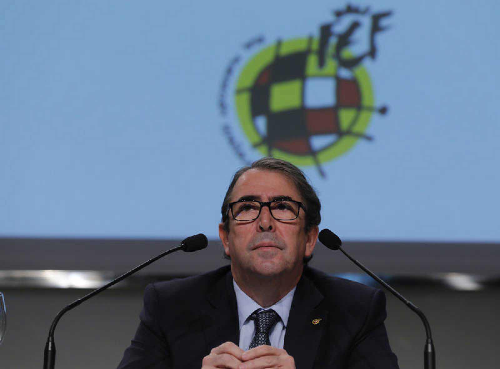 Imagen de archivo de Jorge Pérez en su époco de secretario general de la Real Federación Española de Fútbol.