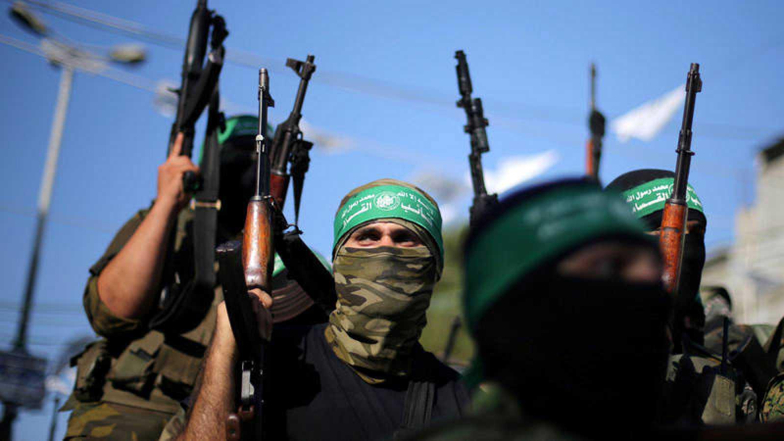 Militantes de Hamás celebran la liberación de un preso (imagen de archivo)