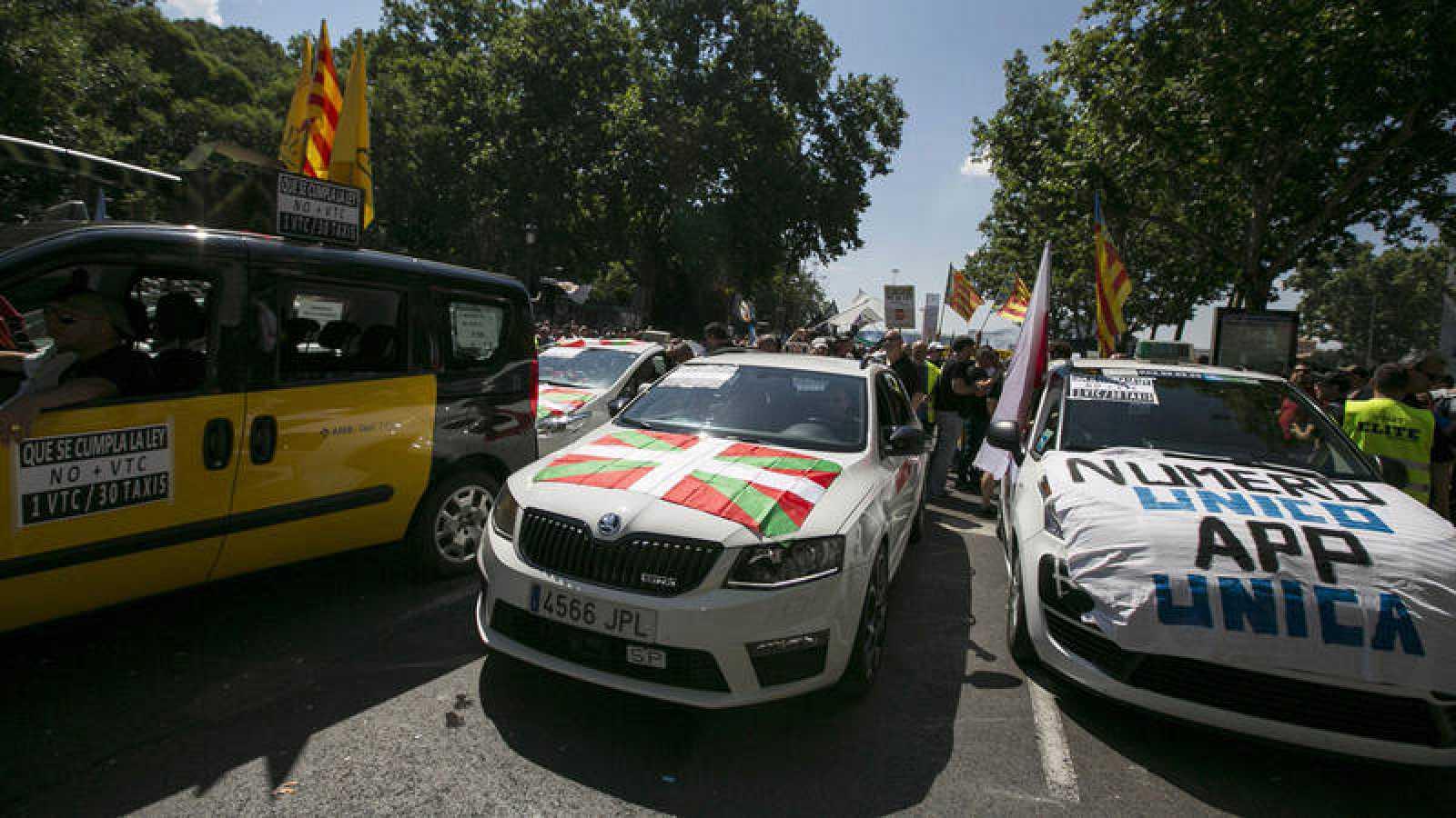 Manifestación de taxistas de toda España el pasado 30 de mayo en Madrid