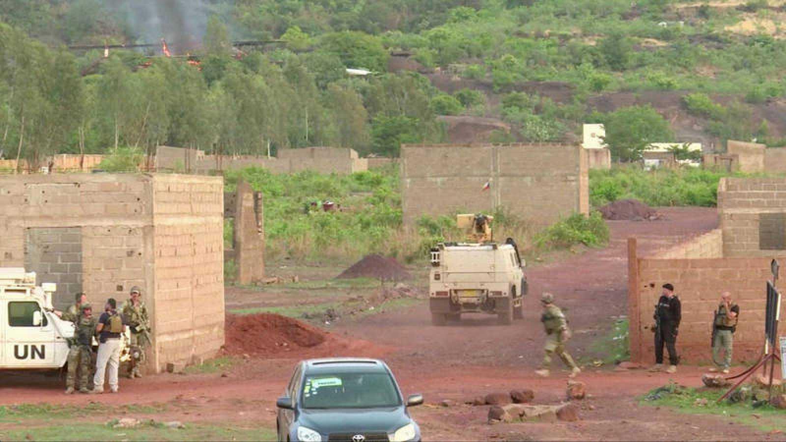 El campamento Kangaba resort, en el complejo Dougourakoro, tras la irrupción de varios hombres armados