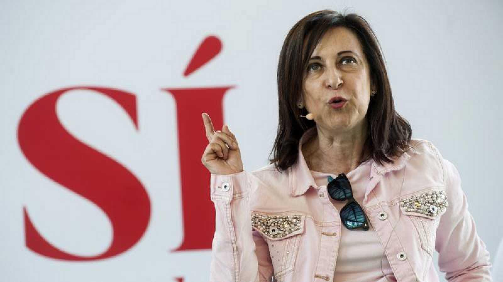 Margarita Robles en un acto del PSOE