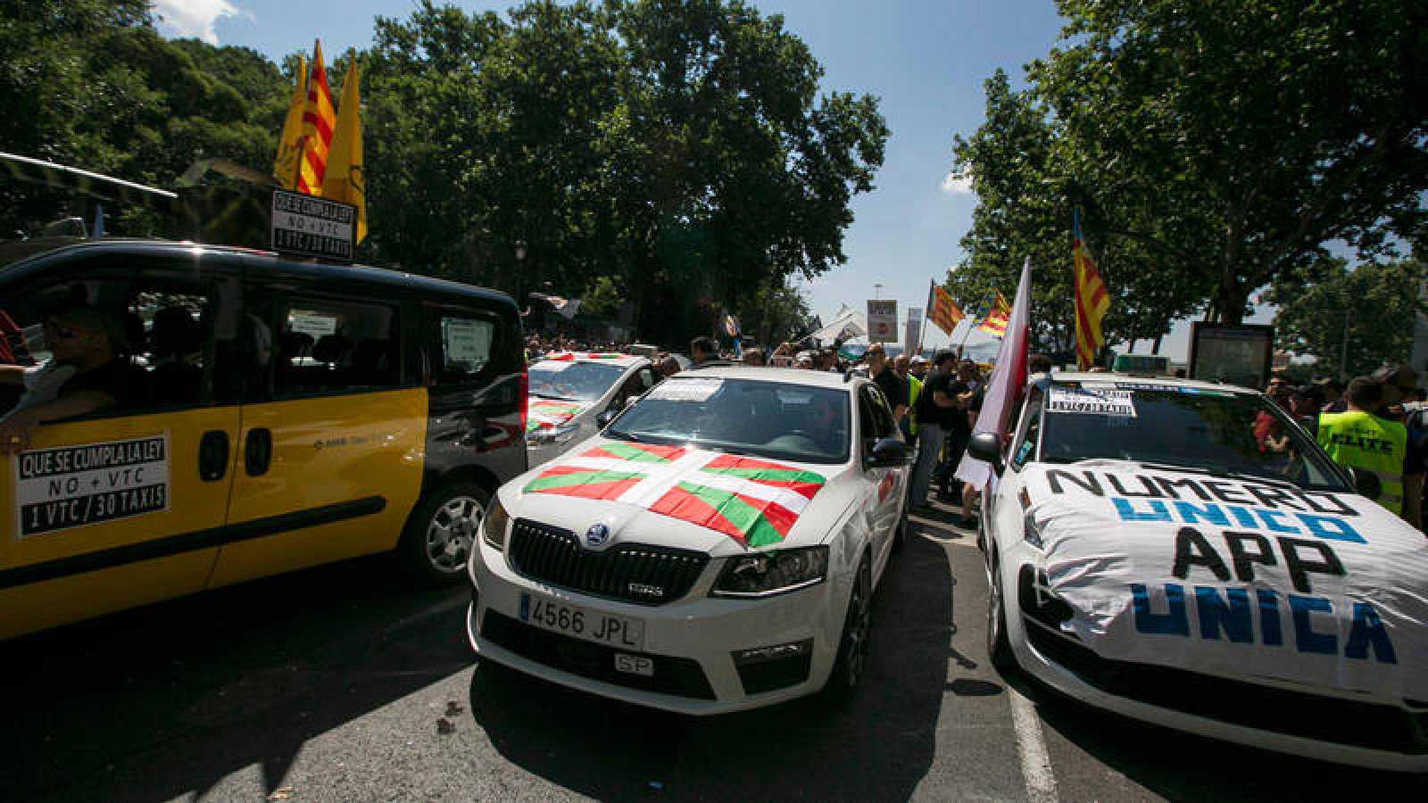 Imagen de la manifestación de taxistas que tuvo lugar en Madrid el pasado 30 de mayo