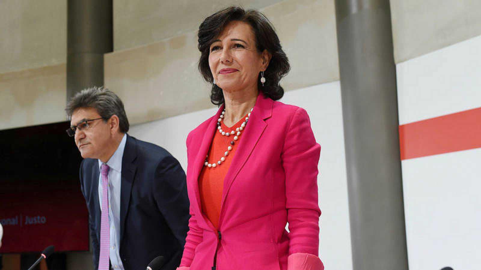 La presidenta del Banco Santander, Ana Botín, informa sobre la compra del Popular en junio