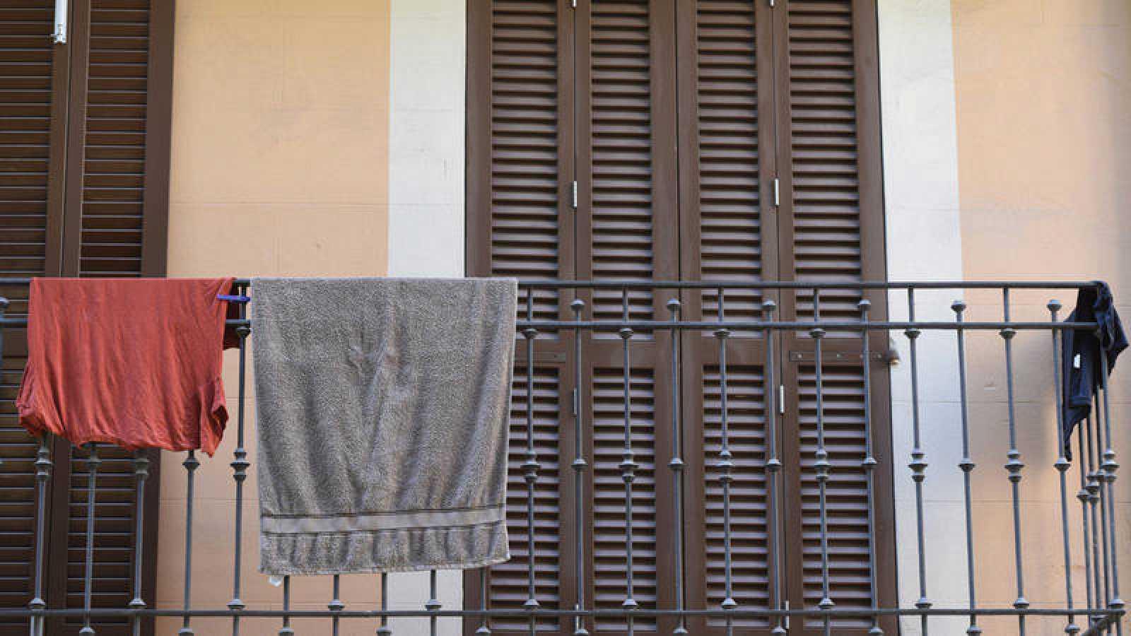 Un balcón del centro histórico de Palma