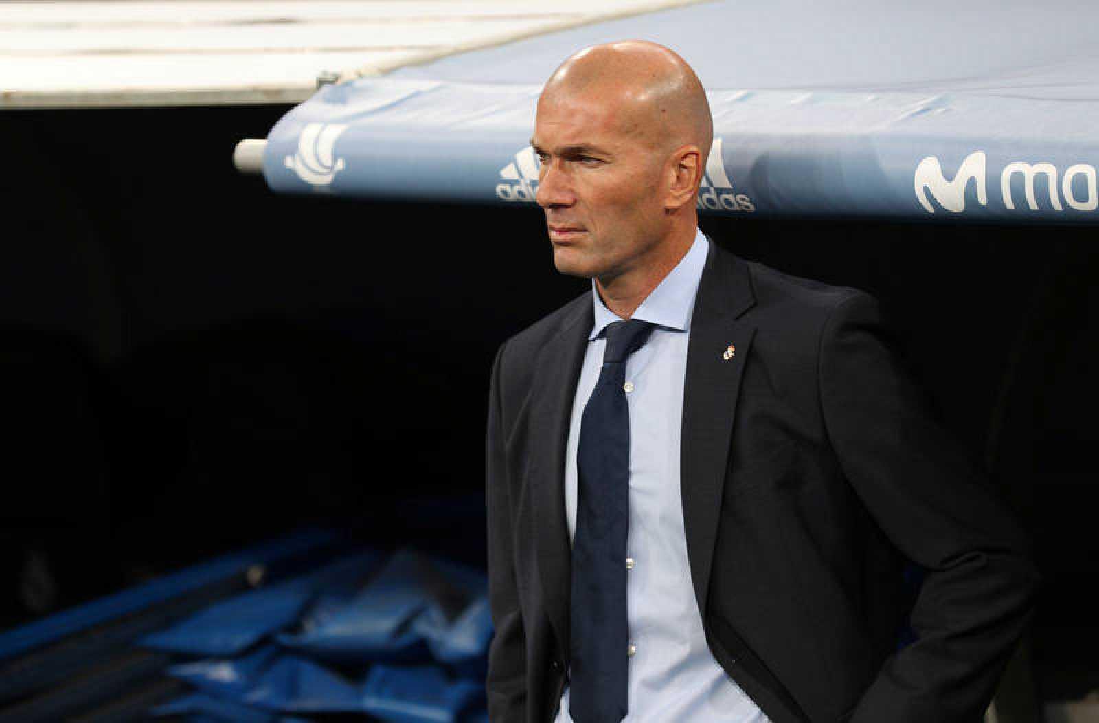 El entrenador del Madrid, Zinedine Zidane