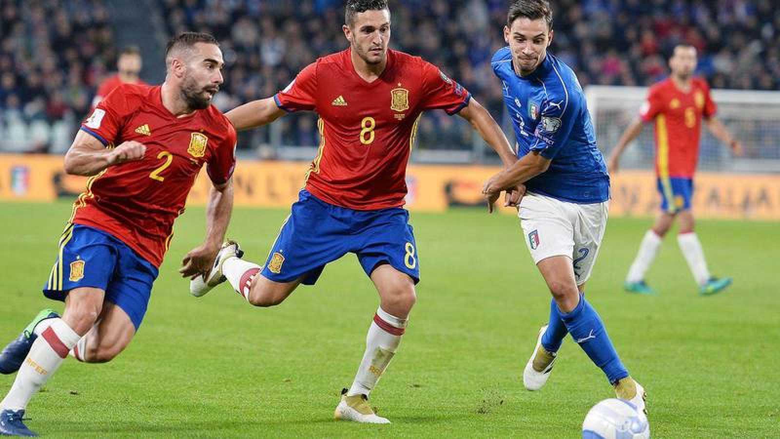 España e Italia disputan una 'final' en el Bernabéu