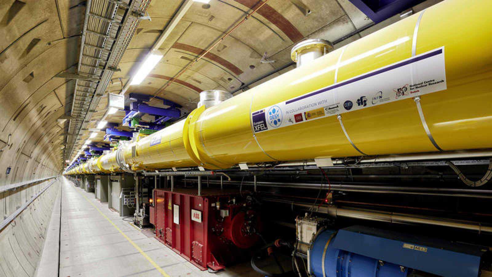 El sistema de túneles del  XFEL -'X-Ray Free-Electron Laser'- en una instalación cerca de Hamburgo, en Alemania