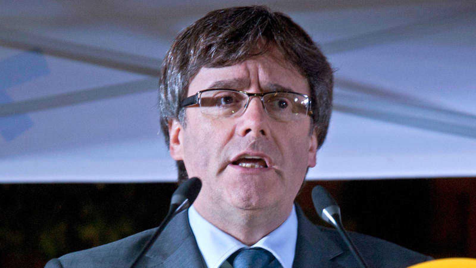 El presidente de la Generalitat de Cataluña Carles Puigdemont