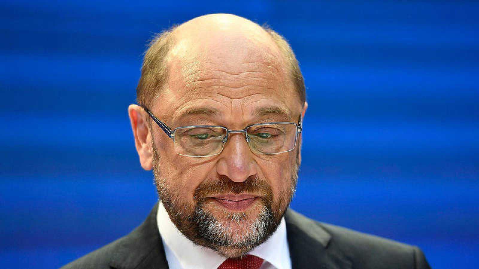 El líder del Partido Socialdemócrata (SPD), Martin Schulz, ofrece una rueda de prensa en Berlín