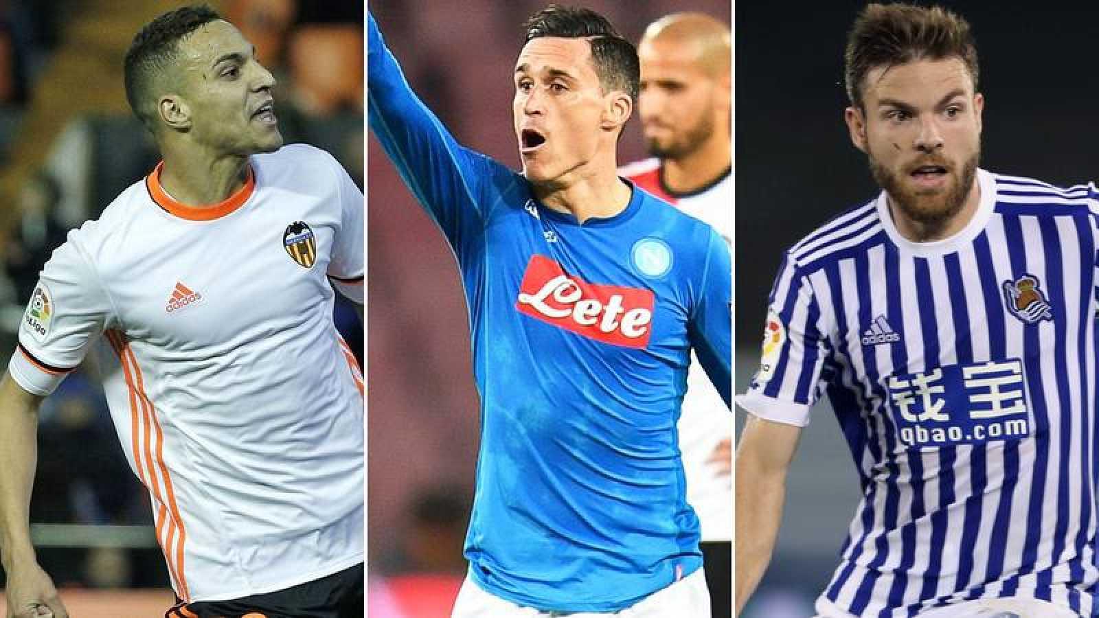 De izquierda a derecha, Rodrigo, Callejón e Illarramendi, novedades en la selección.