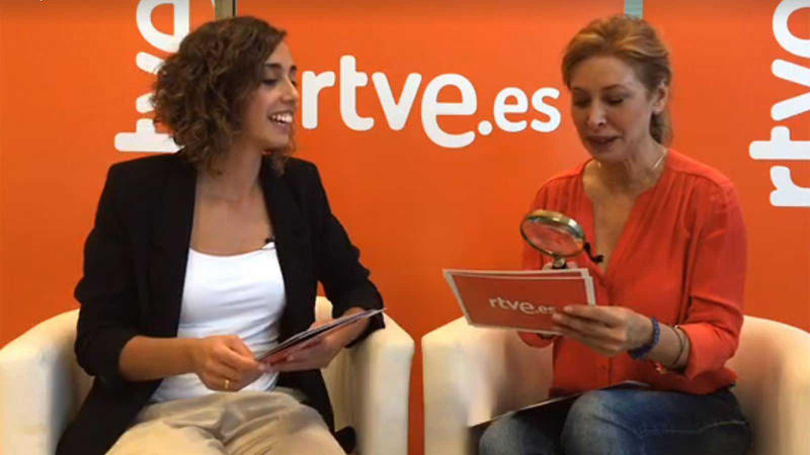 Raquel Martín y Teresa Viejo, en un momento del videoencuentro.
