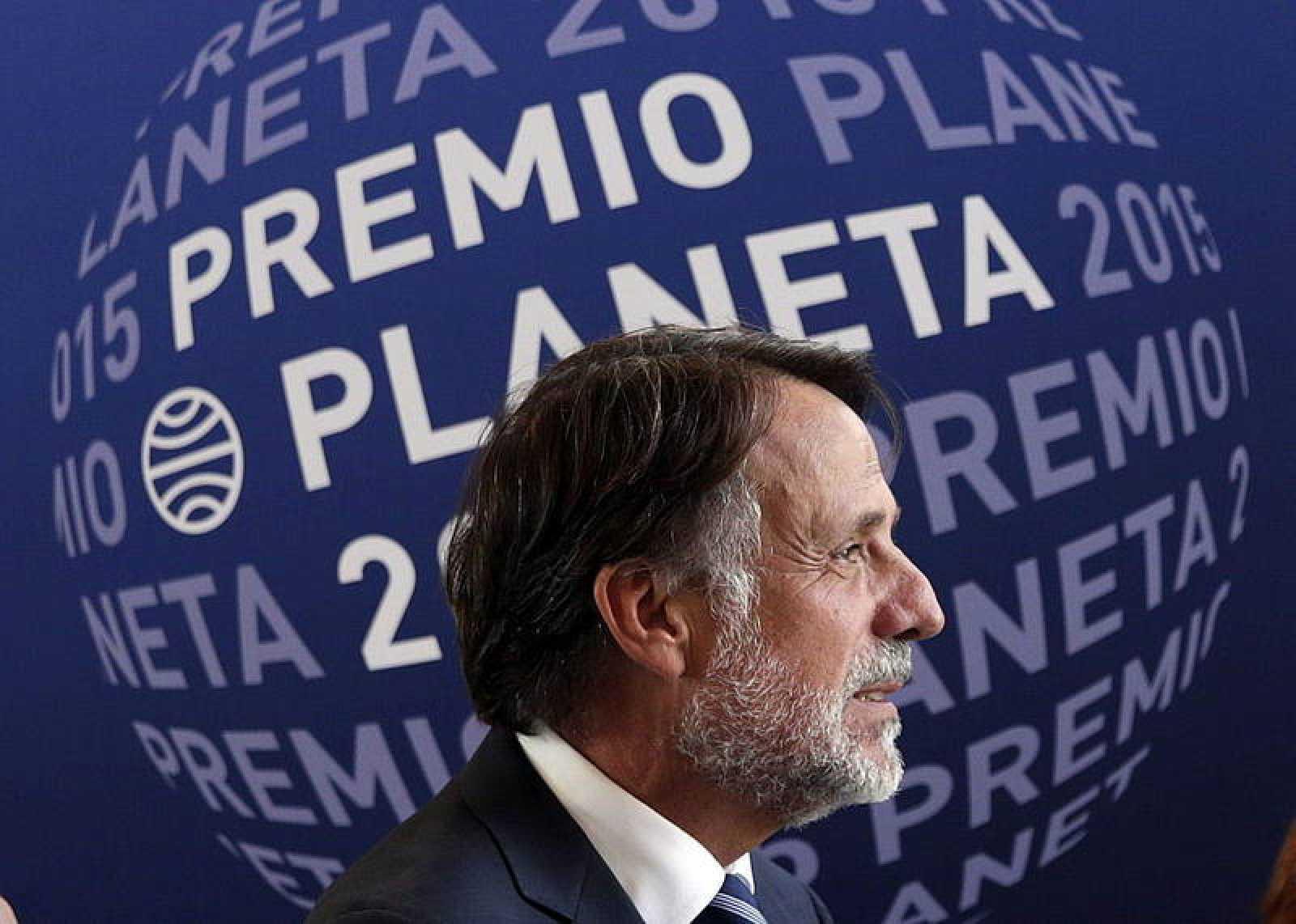 El presidente del grupo Planeta, José Creuheras, durante la presentación del Premio Planeta.