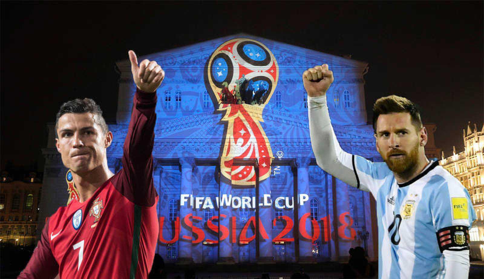 Montaje fotográfico de ambos jugadores con las elásticas de sus combinados nacionales.