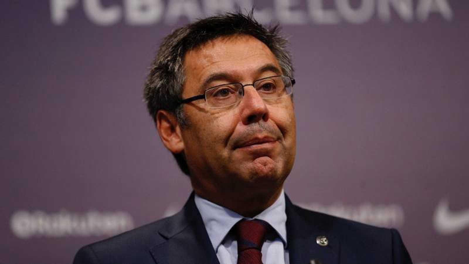 El presidente del FC Barcelona, en rueda de prensa el pasado 2 de octubre