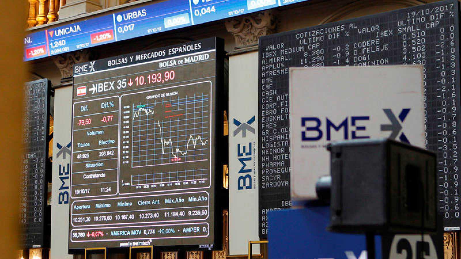 El IBEX 35, principal indicador de la Bolsa española, se despide de los 10.200 puntos