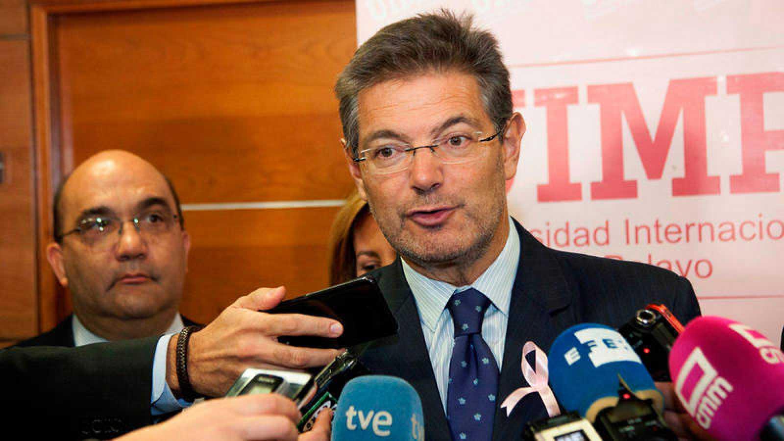 El ministro de Justicia Rafael Catalá interviene en unas jornadas de la Universidad Internacional Menéndez Pelayo en Cuenca