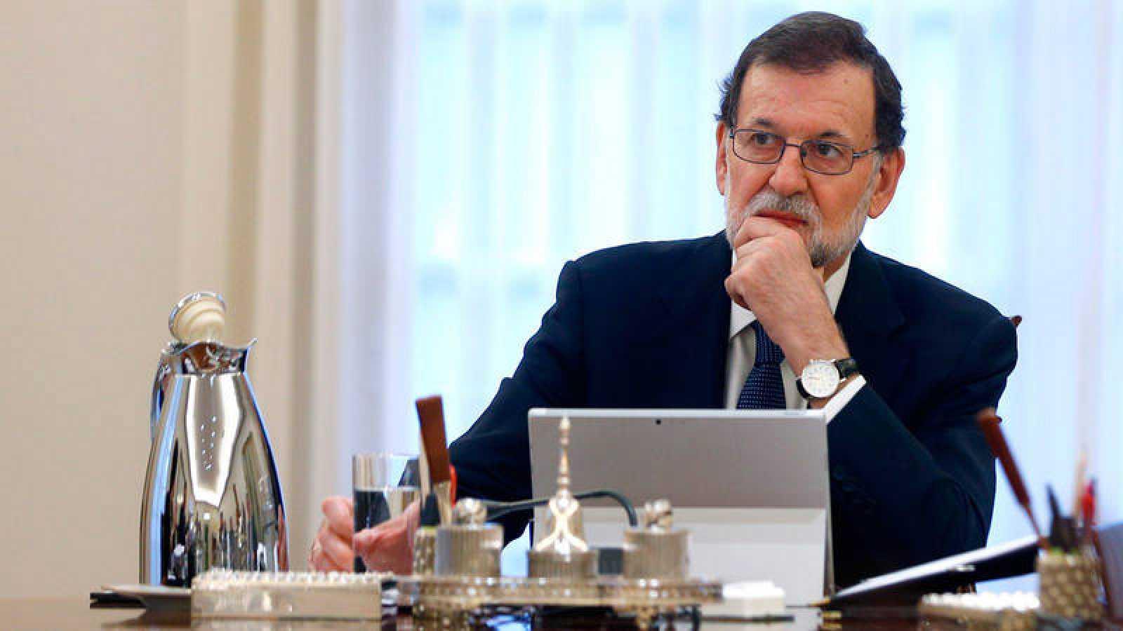 El presidente del Gobierno, Mariano Rajoy, en la reunión extraordinaria del Consejo de Ministros del pasado 11 de octubre