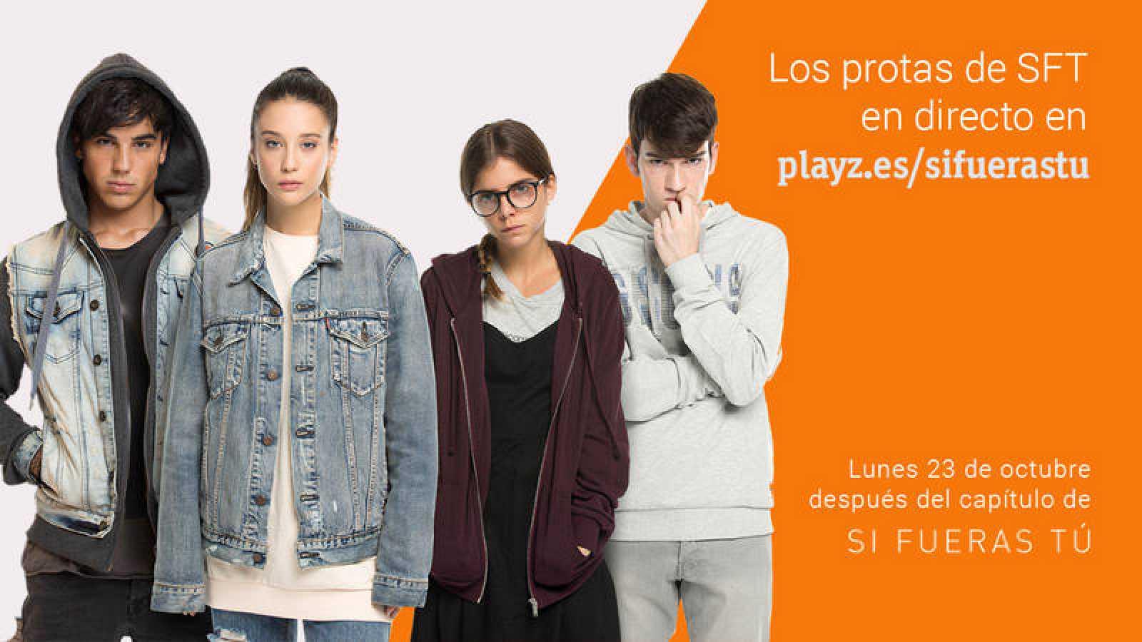 María Pedraza, Lucía Díez, Óscar Casas y Jorge Motos, los invitados del videoencuentro