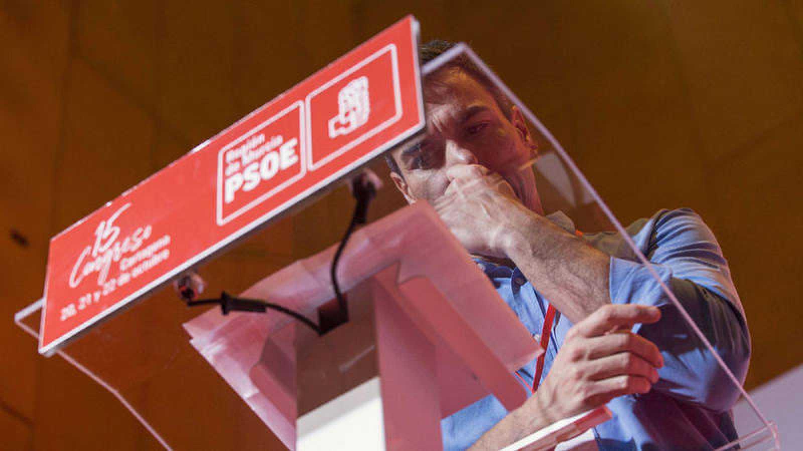 El secretario general del PSOE, Pedro Sánchez, en Murcia