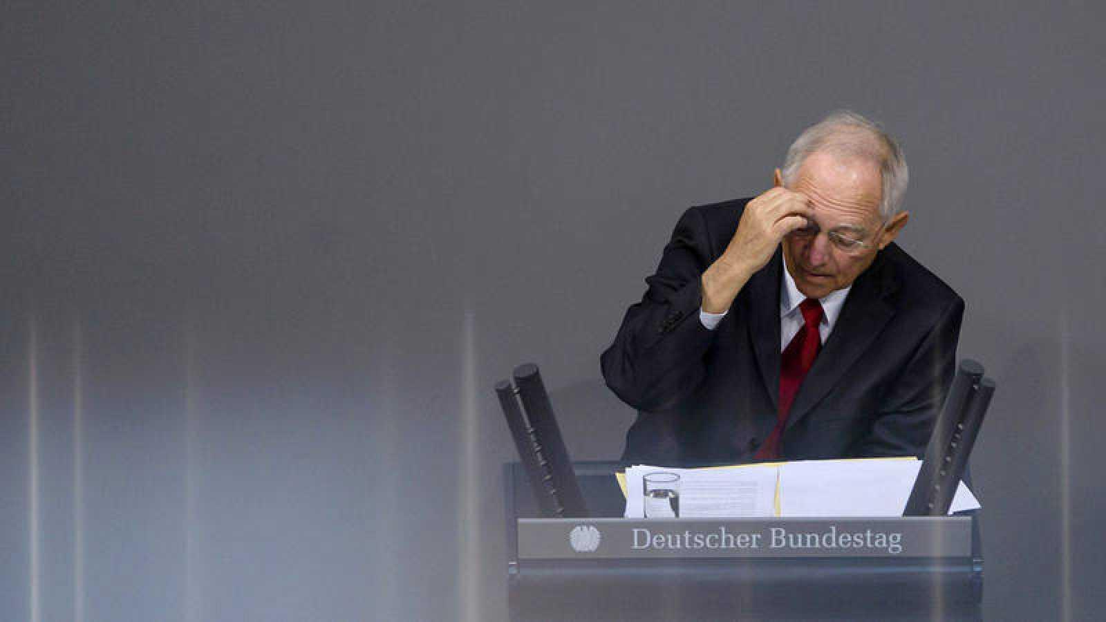 Wolfgang Schäuble en el Bundestag