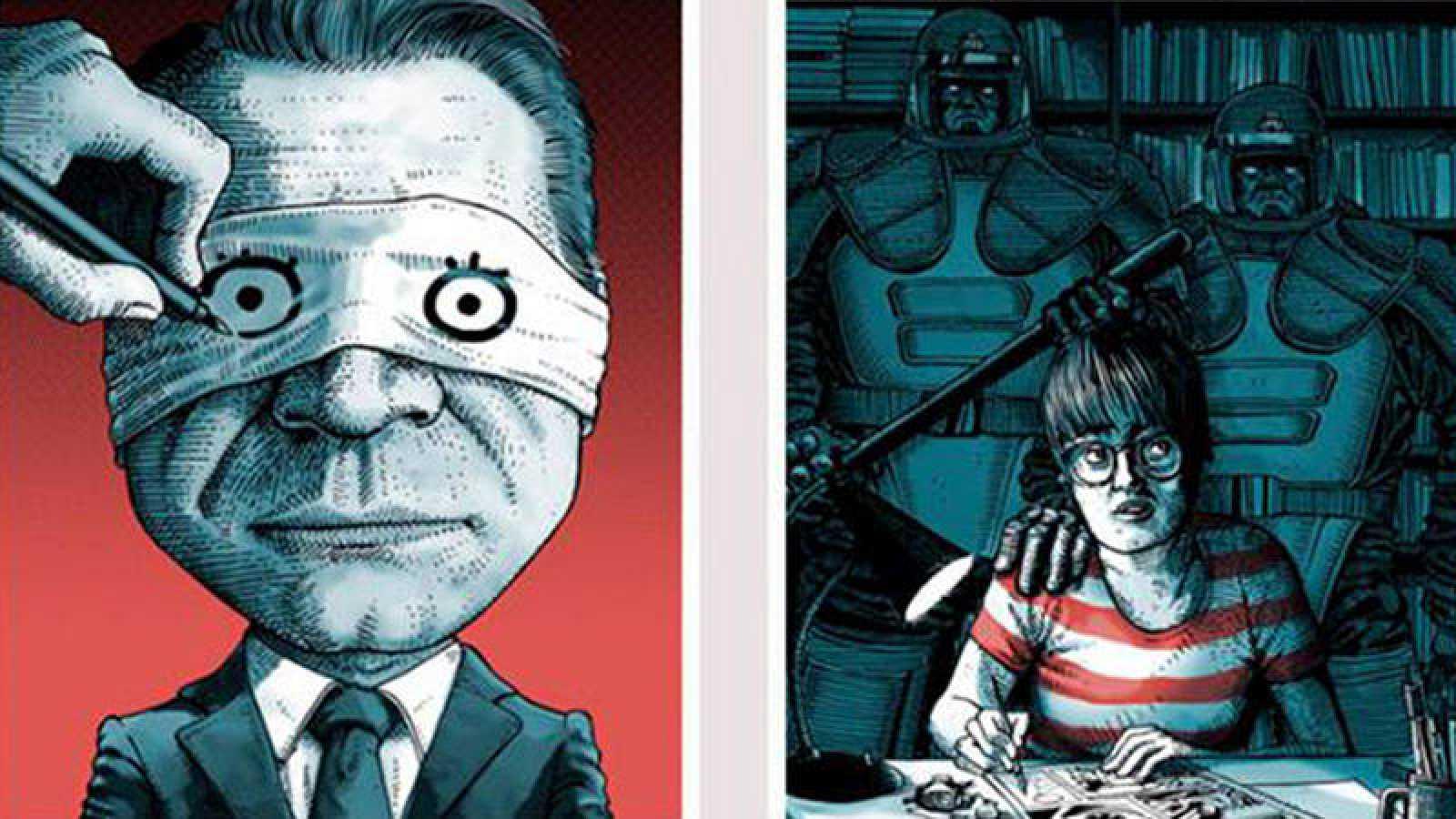 Ilustraciones de Ata para los carteles del Festival Internacional CòmicNostrum 2017