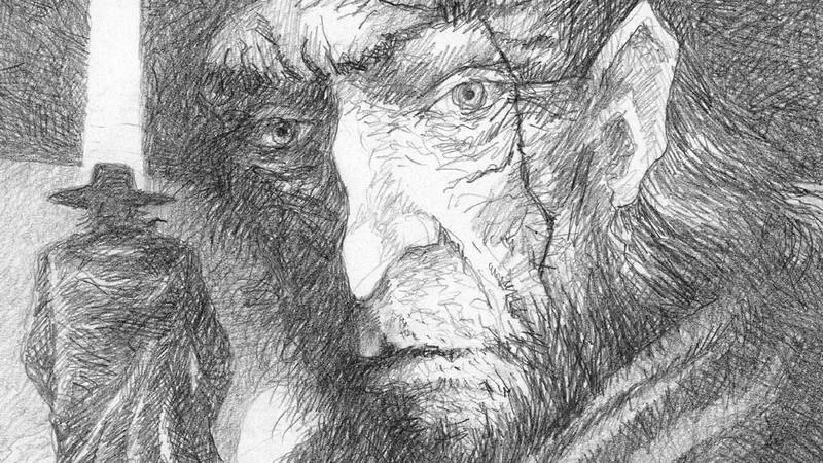 Detalle de una ilustración de 'Moby Dick'