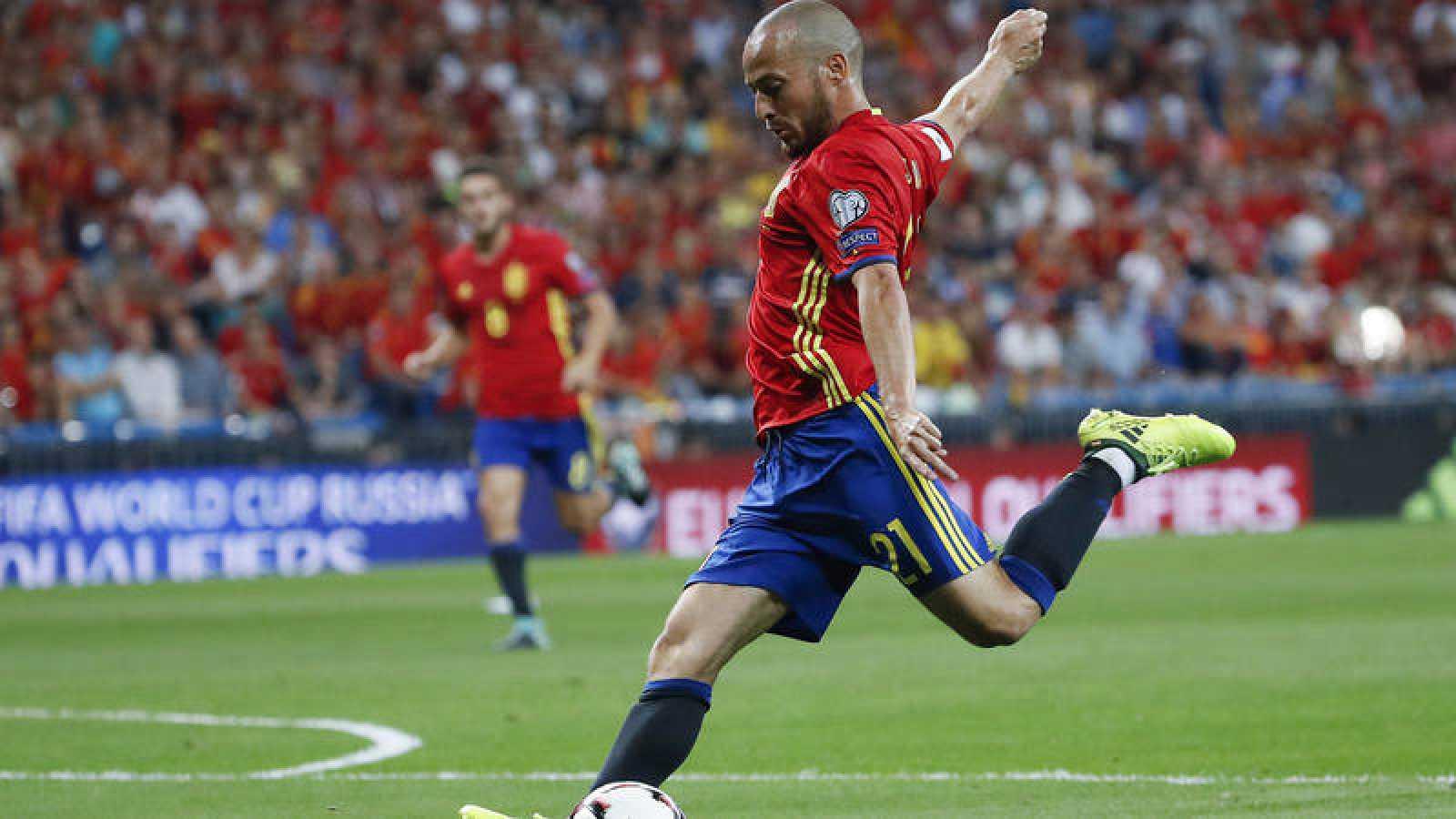 David Silva, centrocampista de la selección española.