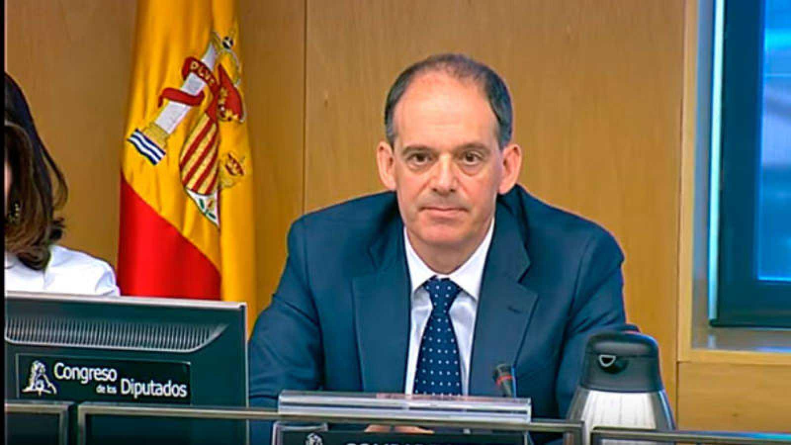 Imagen del inspector jefe de la UDEF Manuel Morocho este martes en el Congreso