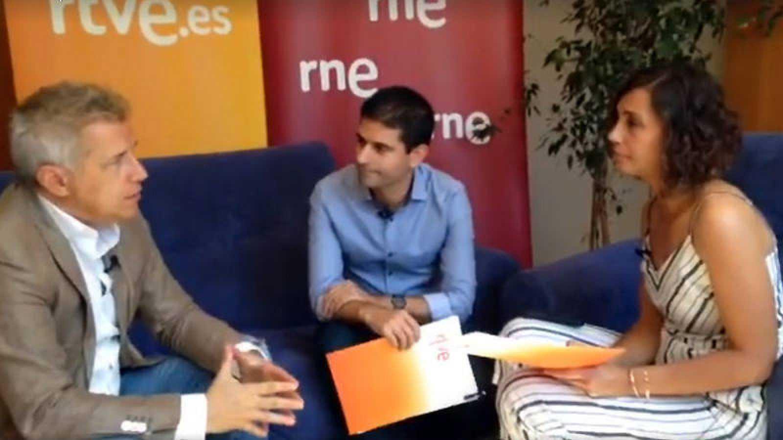Ignacio Elguero, Rubén Vidal y Raquel Martín Alonso, en un momento del videoencuentro.