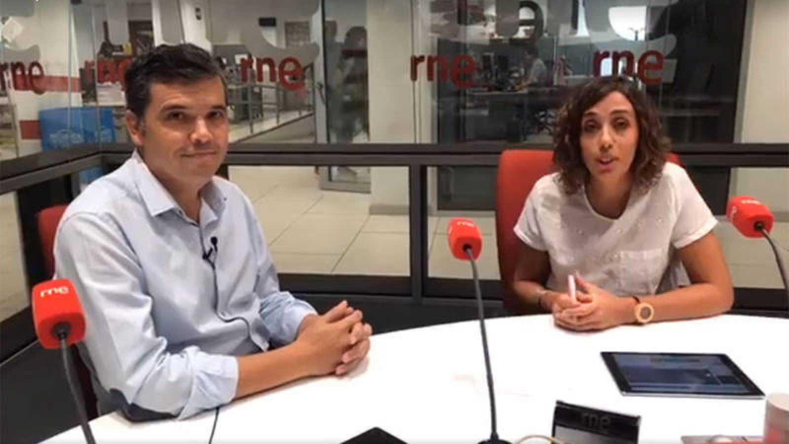 Alfredo Menéndez y Raquel Martín Alonso, en un momento del videoencuentro.