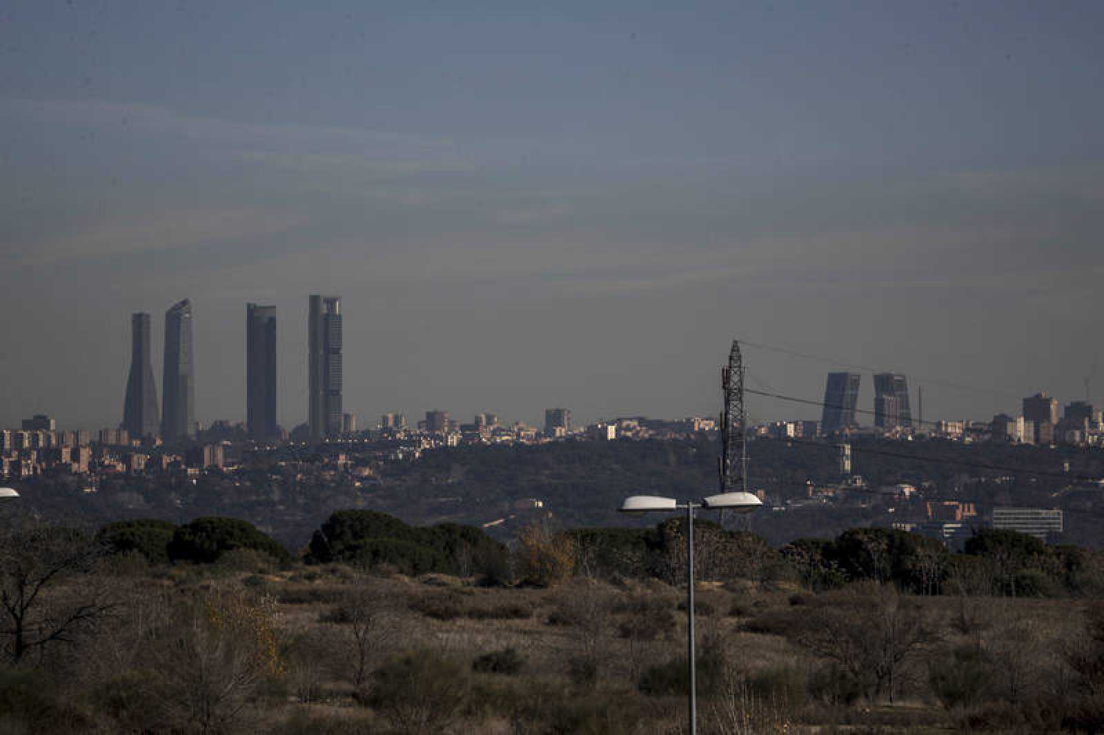 Vista de la contaminación sobre la ciudad de Madrid