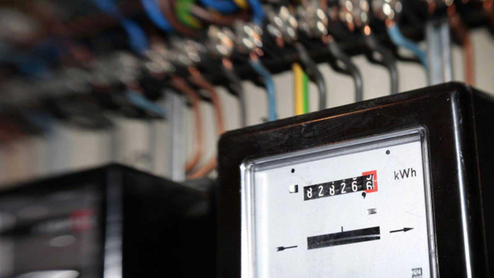 Un contador antiguo de consumo de electricidad