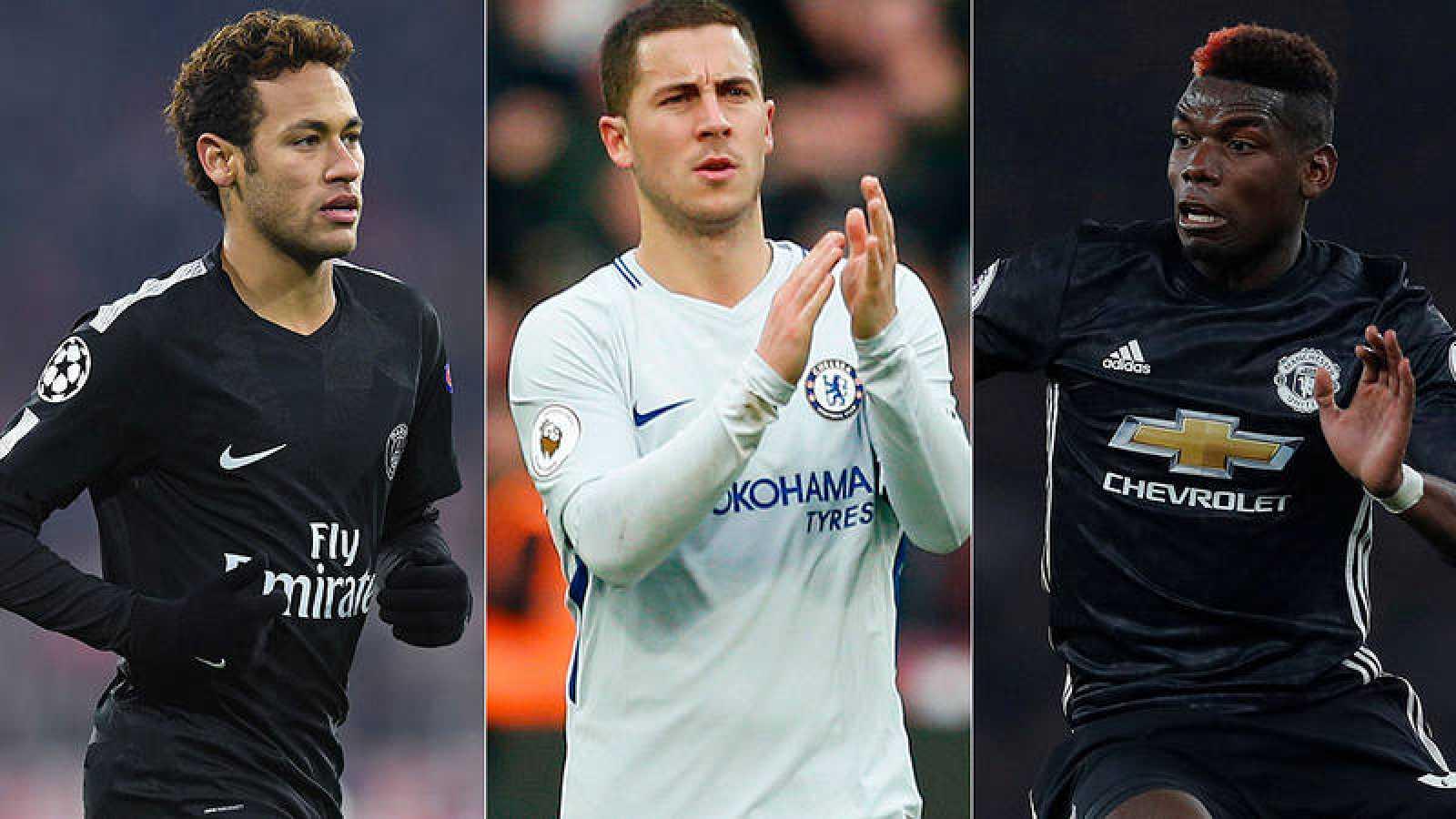 Neymar, Hazard y Pogba se las verán en octavos contra Real Madrid, Barcelona y Sevilla.