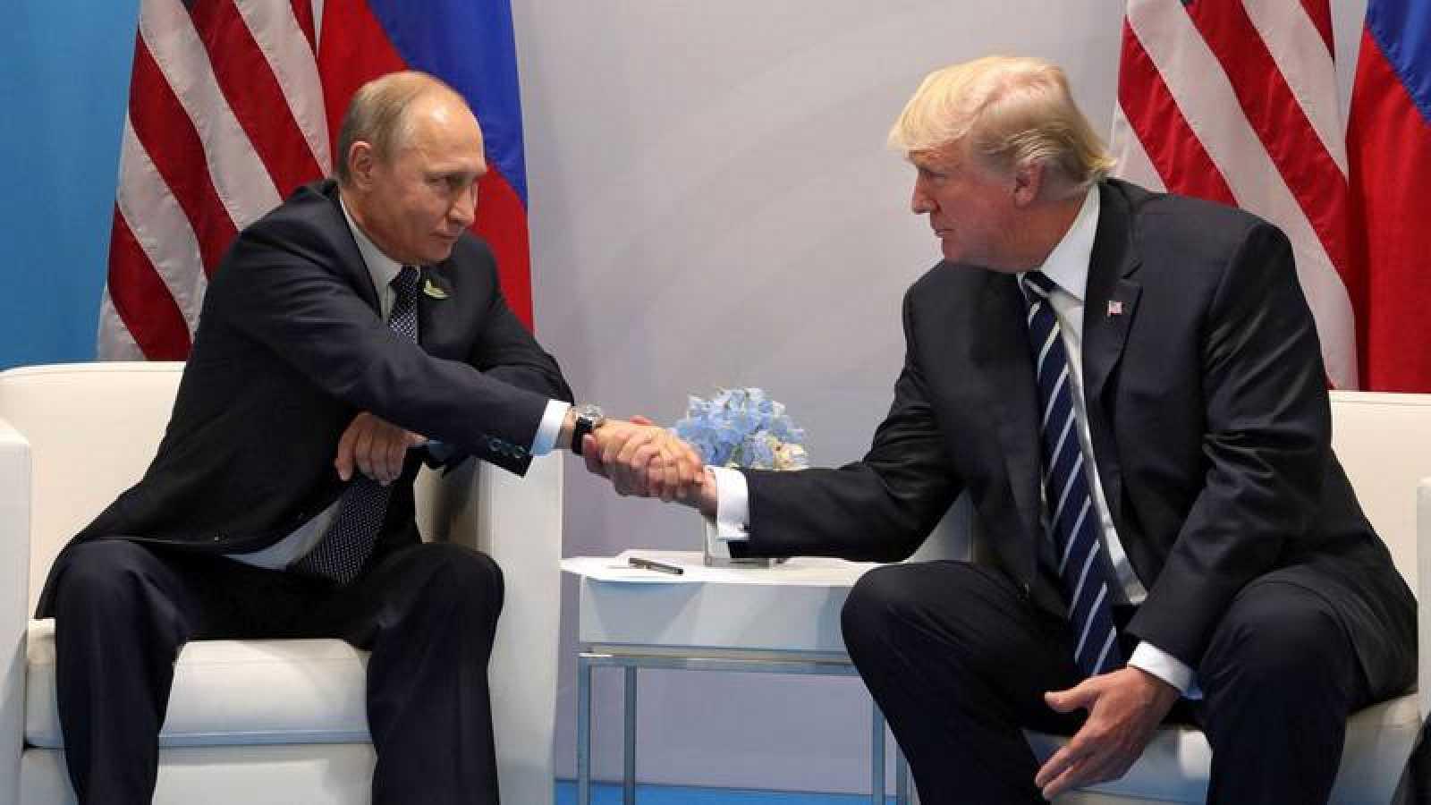 El primer encuentro entre Trump y Putin, en la cumbre del G-20 el pasado 7 de julio