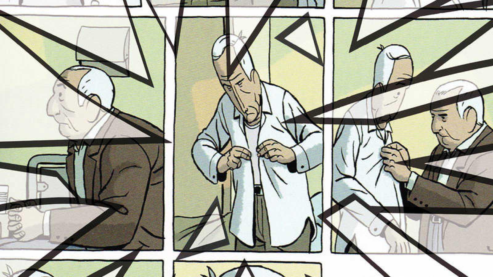Fragmento de la portada de 'Imágenes de la enfermedad en el cómic actual'