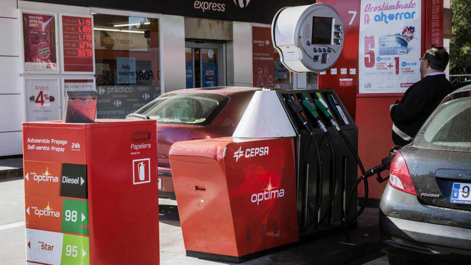 Una gasolinera de Cepsa en Madrid