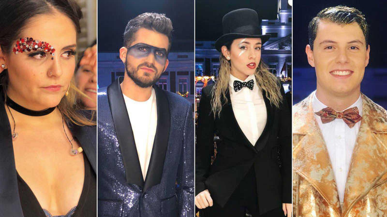 Andrea Compton, Kikillo, Miare y Stones, con sus 'outfit' de Campanadas