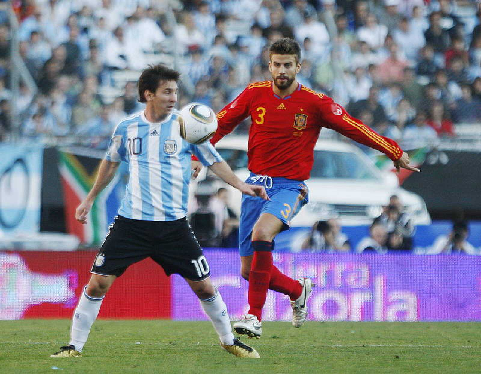 Imagen de archivo del partido amistoso disputado en el estadio de River Plate en Buenos Aires entre Argentina y España.