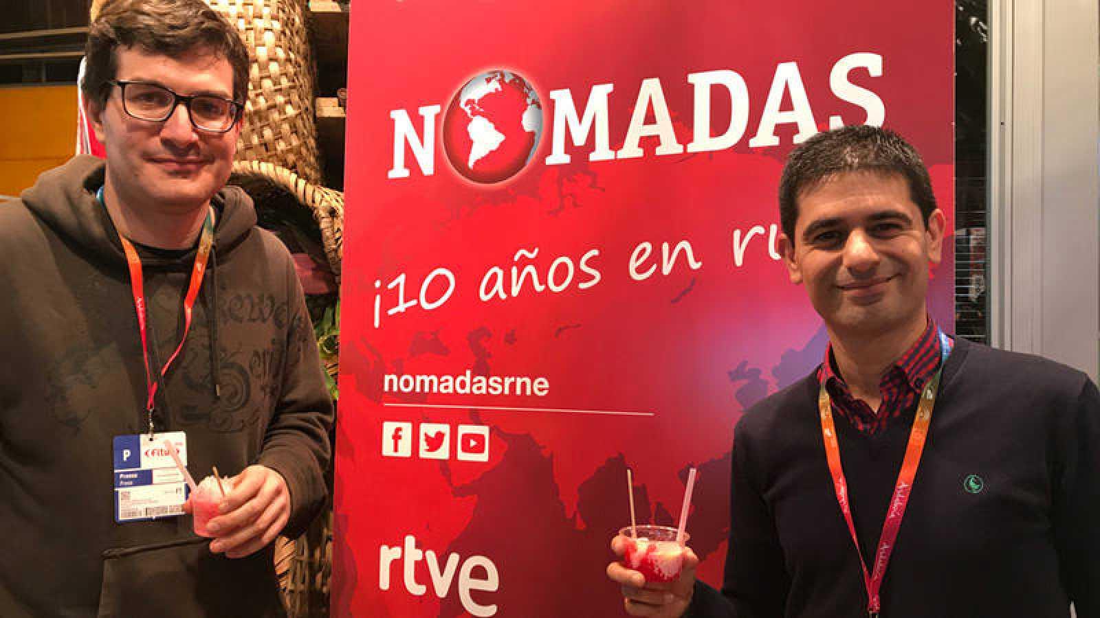 Álvaro Soto, responsable de 'Nómadas', y Rubén Vidal, de RTVE.es.