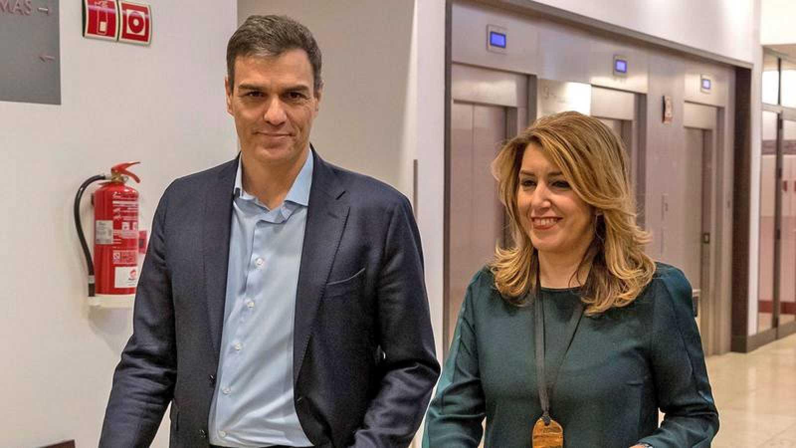 Pedro Sánchez y Susana Díaz en Sevilla